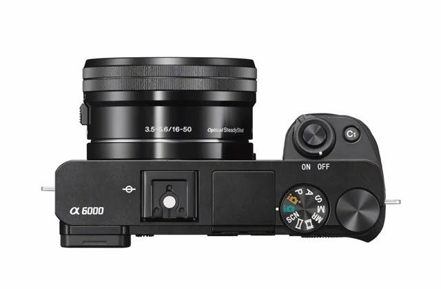 Fotografia dall'alto della Sony A6000