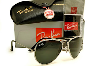 Rayban Diamond Hard Frame Silver with White Lens Black