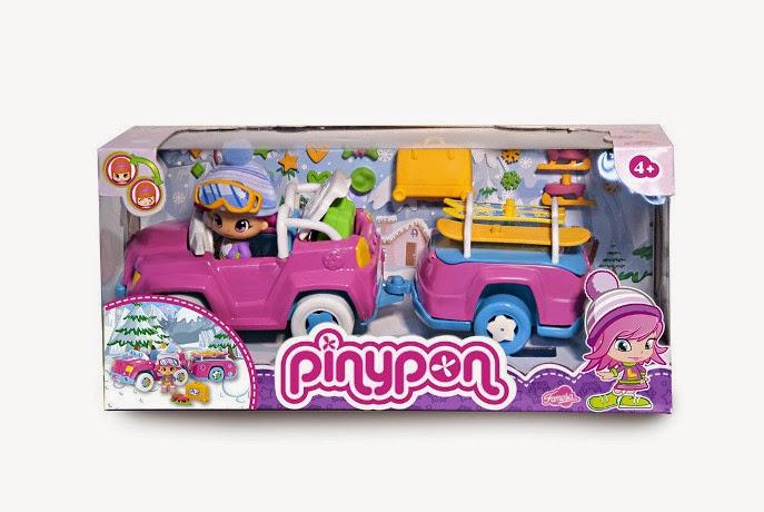 JUGUETES - PINYPON Coche de Nieve con Remolque  Producto Oficial | Famosa 700010267 | A partir de 4 años