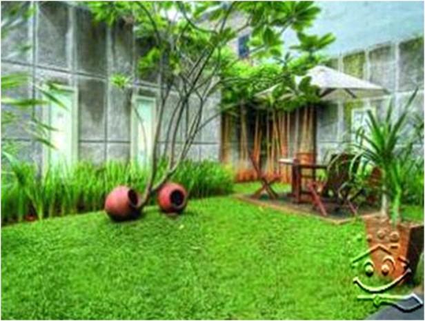 jalurbiru arsitektur taman dengan rumah gaya minimalis