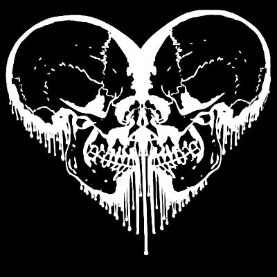 Goth skulls heart