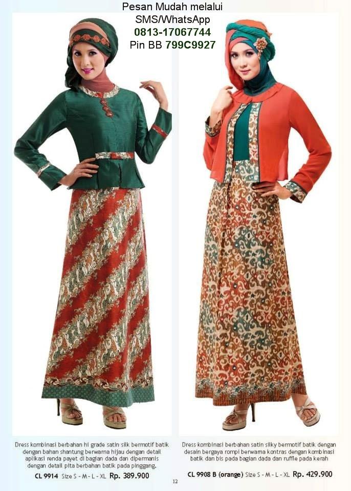Model Baju Gamis Batik Modern Terkini Baju Gamis Terbaru