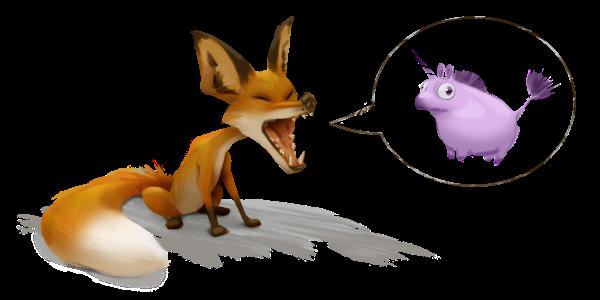 Fox unicorn photoshop