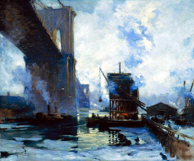 Morning on the river c 1911 12 oil on canvas 50 x 60 in