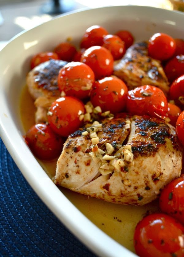 Badger Kitchen: Skillet Chicken with Cherry Tomatoes and ...