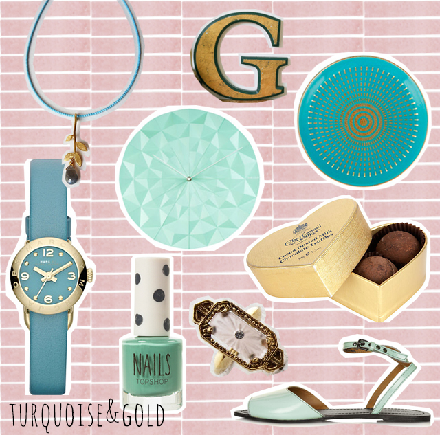 colour combo love   turquoise and gold