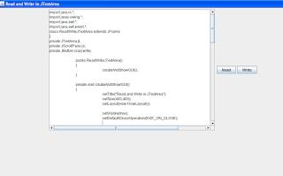 Screenshot of the ReadAndWriteJTextArea.java