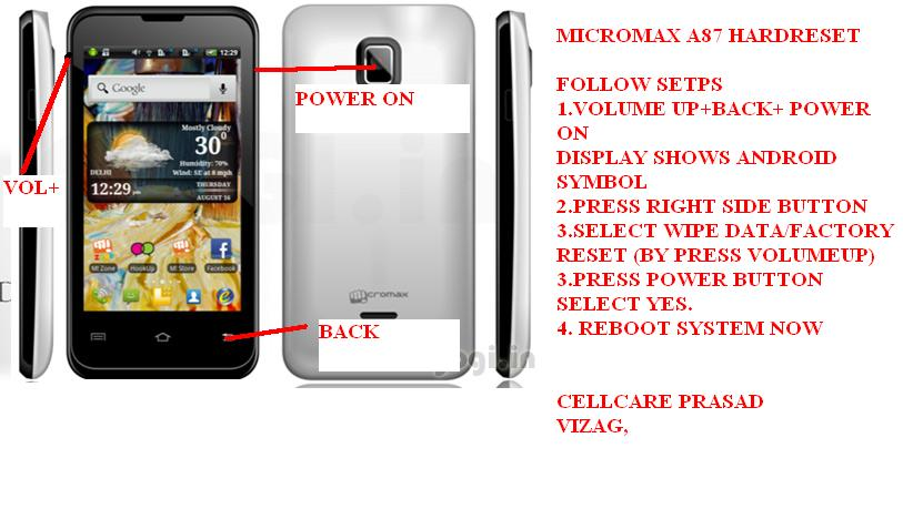 MICROMAX A87 Hardreset ~ all mobile solution