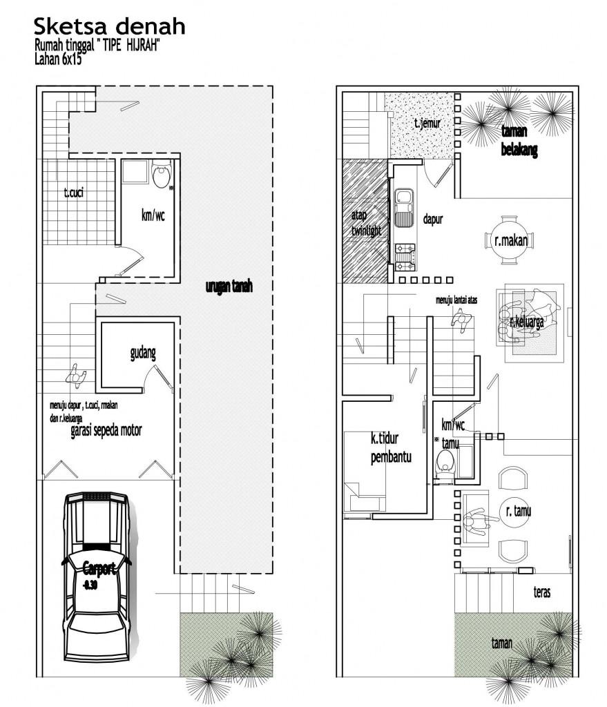 denah gambar rumah minimalis sederhana gambar rumah