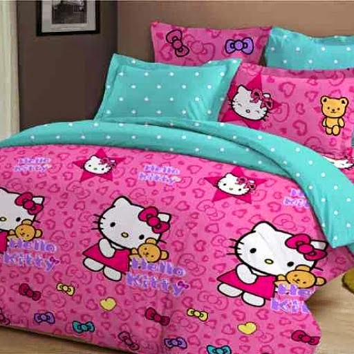 Home made Sprei dan Bed cover aneka motif anak