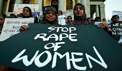stop rape of women banner