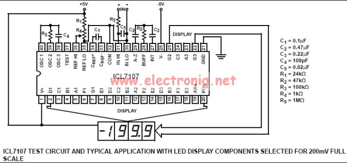 icl7106 and icl7106 based digital voltmeter circuit electronic