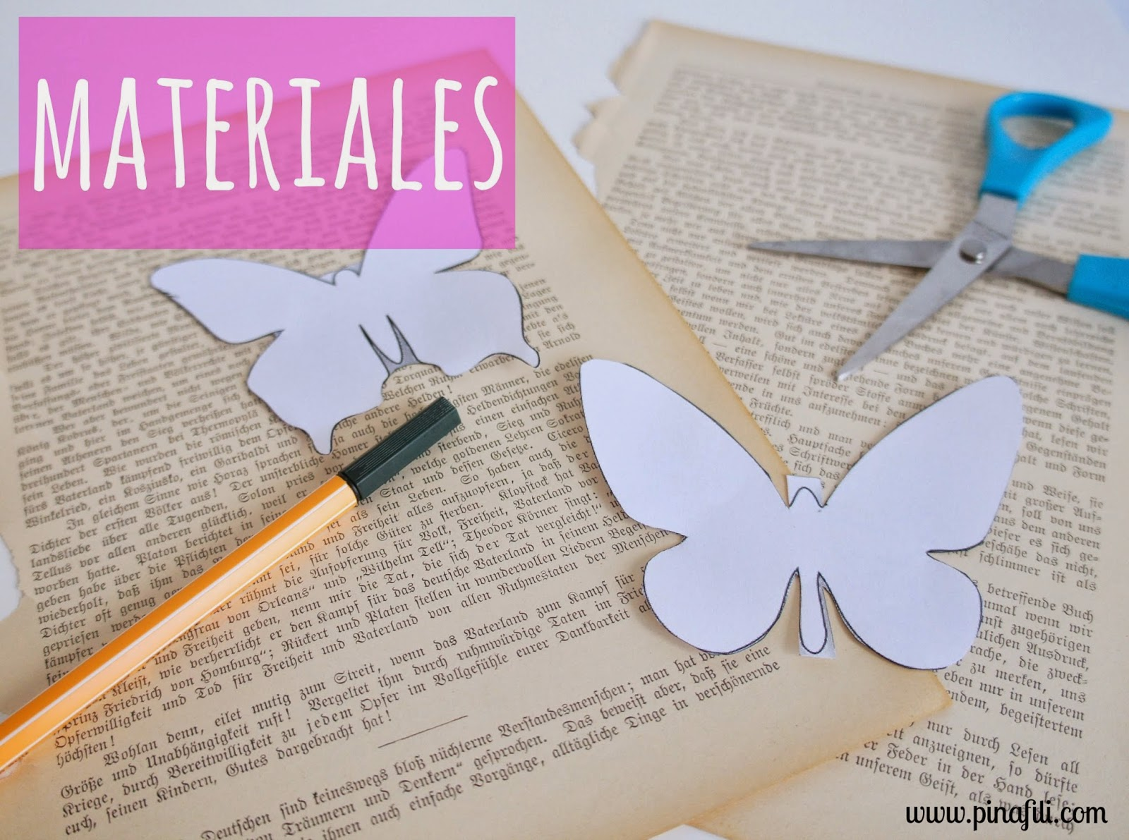 Pinafili diy mariposas de papel para decorar for Papel de decoracion para paredes