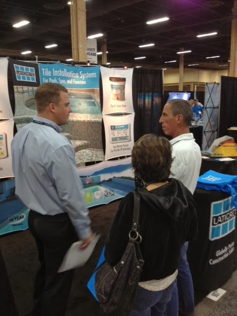 Laticrete conversations pool and spa expo for Pool spa trade show las vegas