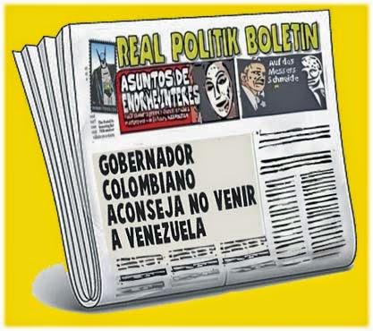 front pages cómic - declaraciones gobernador colombiano Venezuela