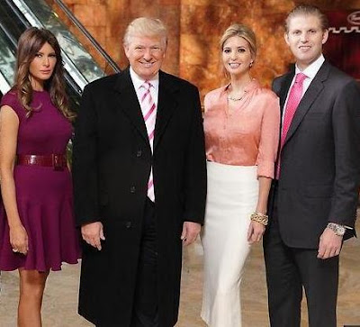 The Trumps - Melania, Donald, Ivanka and Eric on All-Star Celebrity Apprentice