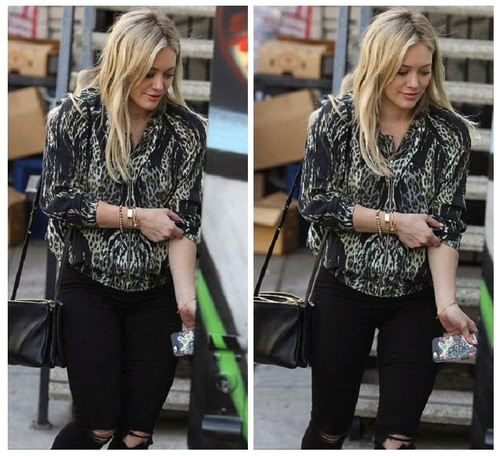 What a tease? The 27-year-old showed off another striking in a lion shirt and black jeans while enjoyed a shopping trip at California on Friday, January 9, 2015.