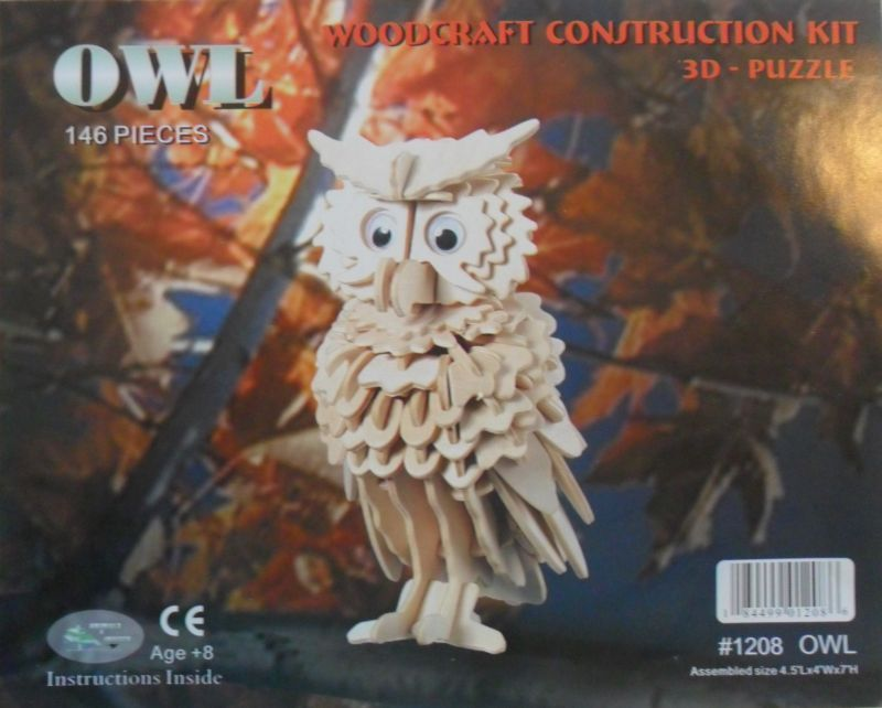 woodcraft construction kit owl instructions 2
