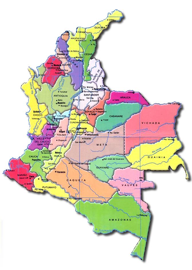 geografia economica de colombia: