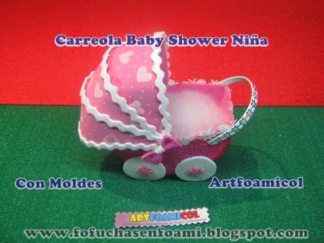 Mis Fofuchas 2013 Artfoamicol: CARREOLA O COCHE PARA BABY SHOWER ...