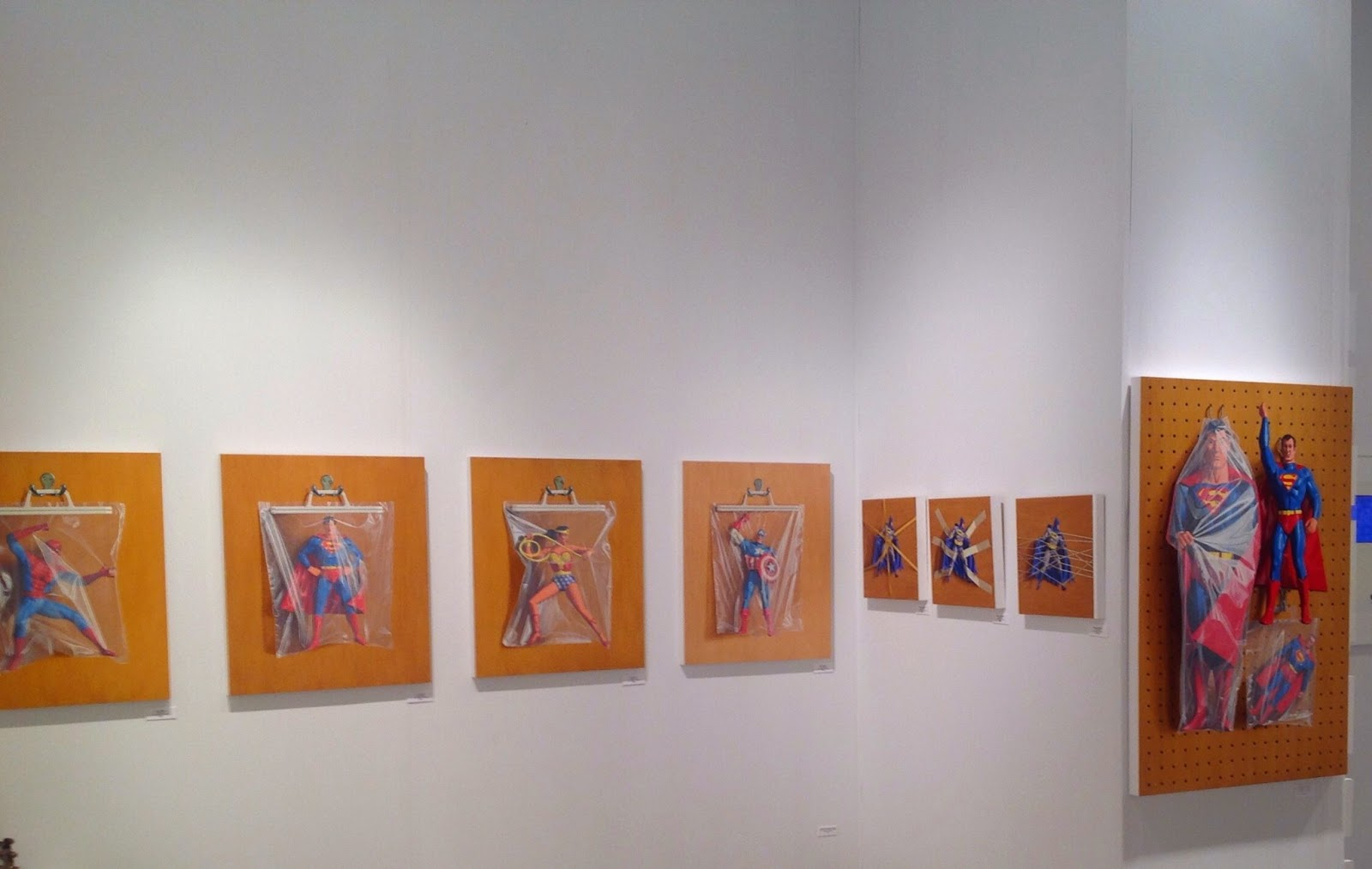 Simon Monk wall at Context Art Miami - Alida Anderson Art Projects