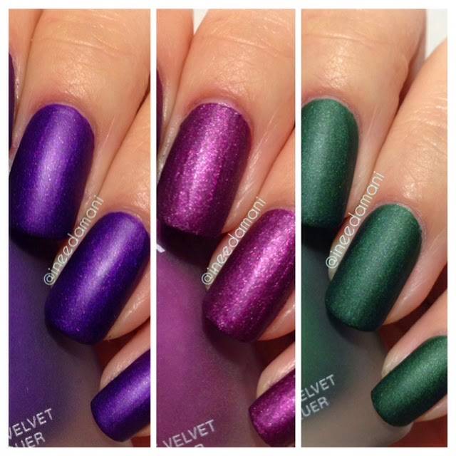 zoya matte velvet nail polish collection savita harlow veruschka