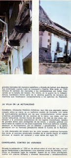 Folleto turistico de Candelario Salamanca del año 1970-2
