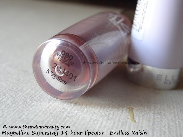 maybelline superstay lipcolor endless raisin review