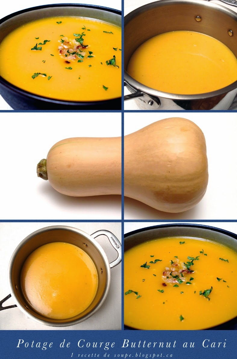 1 recette de soupe potage de courge butternut musqu e. Black Bedroom Furniture Sets. Home Design Ideas
