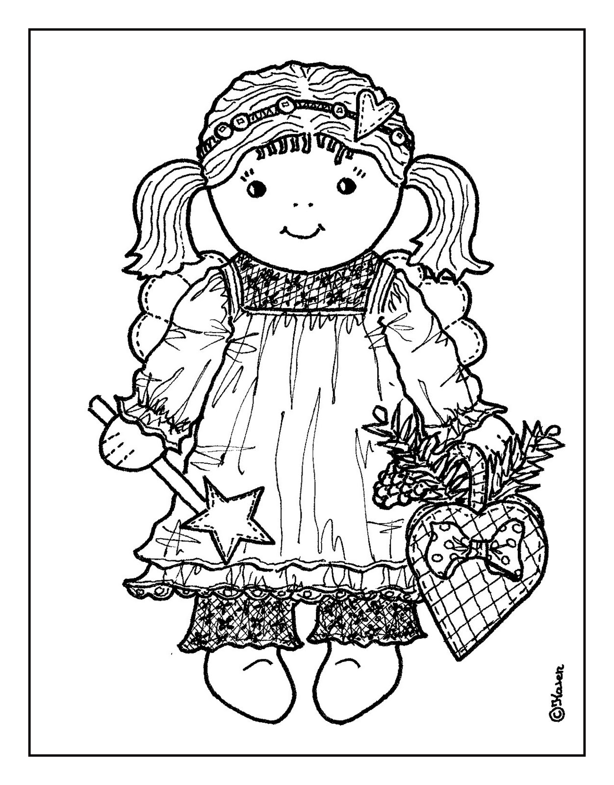 Label: Christmas Coloring Page