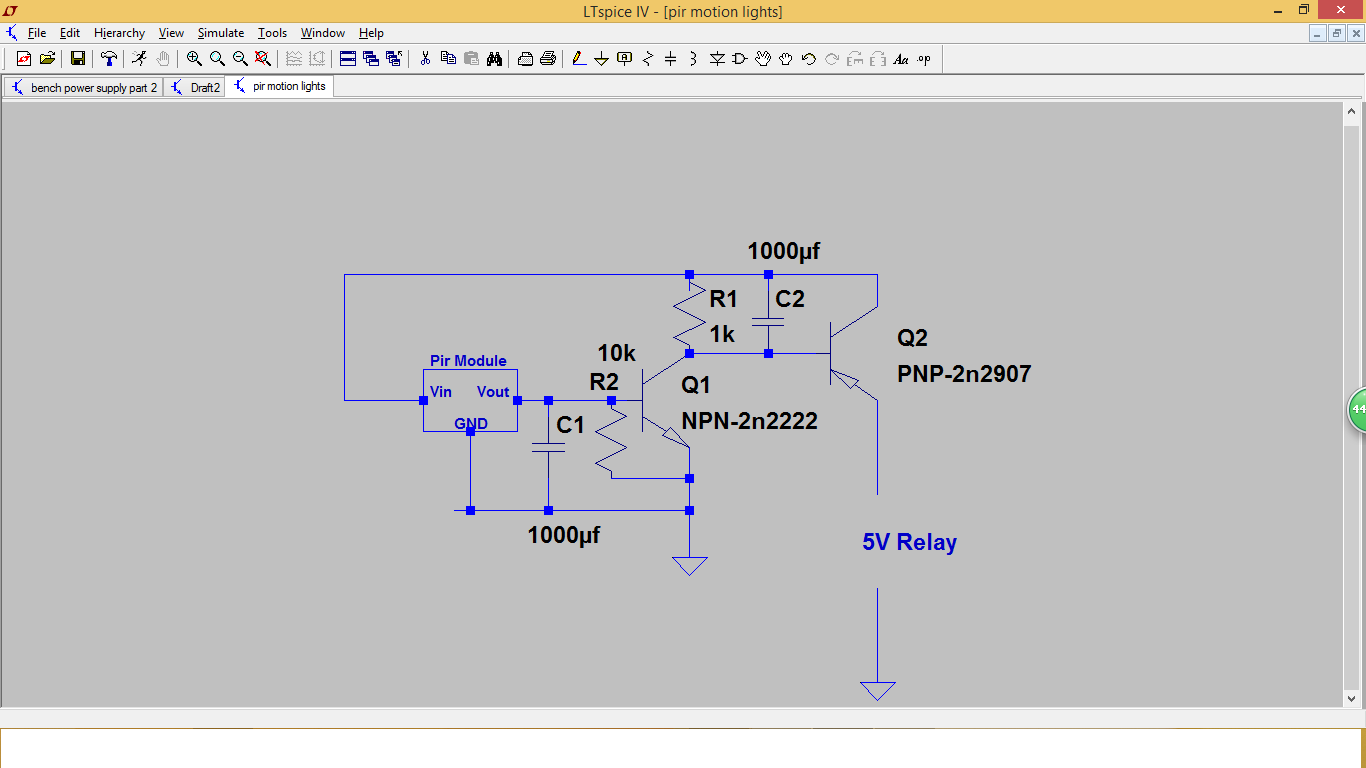 Diyelectronicprojects How To Make Pir Motion Lights With Npn And Transistor Diagram The Circuit Shows A Module Connected Pnp Relay This Configuration Allows Be Turned On When Sees