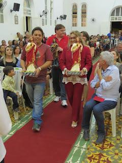 Imagens da 8ª noite de novena em honra ao Sagrado Coração de Jesus e inauguração da nova secretaria paroquial