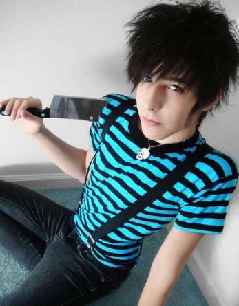 Mediumlengthhairstyles Emo Hairstyle BoyCool Emo Hairstyle - Emo boy hairstyle images