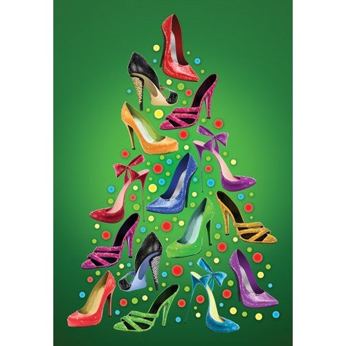 The well heeled society happiness is kicking up your heels for the holiday season boxed holiday christmas greeting cards set of 10 shoe christmas tree cards and envelopes m4hsunfo