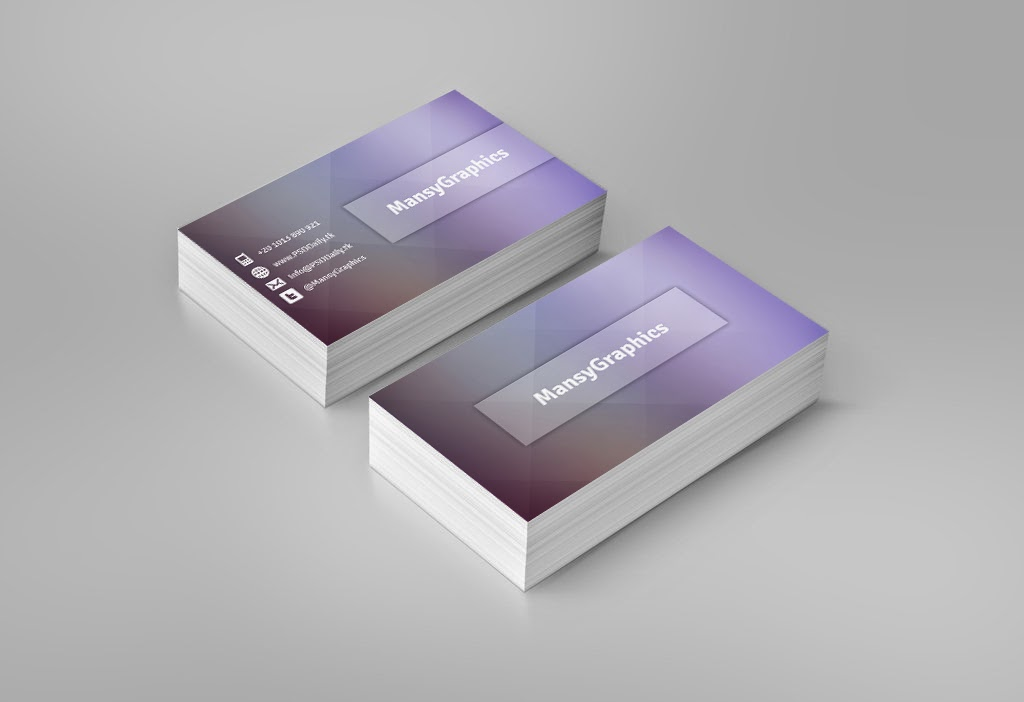 Stylish Business Card PSD PSD Fly