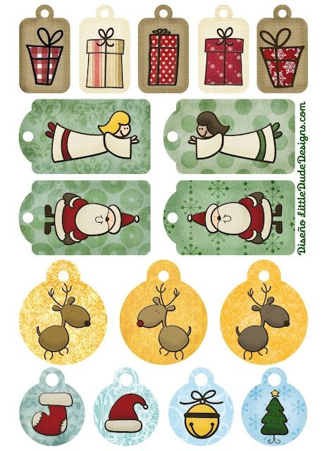 Etiquetas regalos navidad