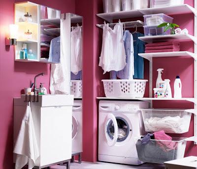 Dise o de un lavadero moderno y sus productos de ikea - Estanteria algot ikea ...