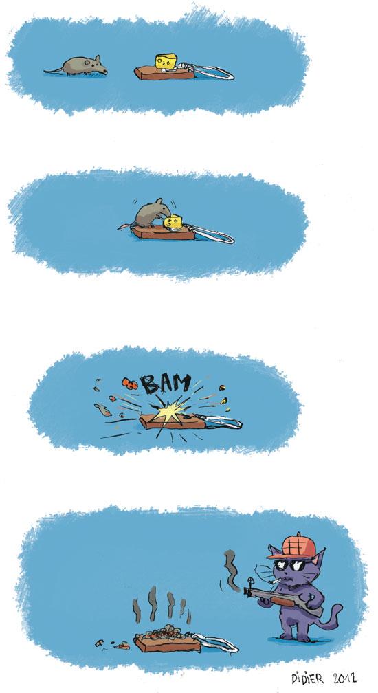 une souris et un piège à souris