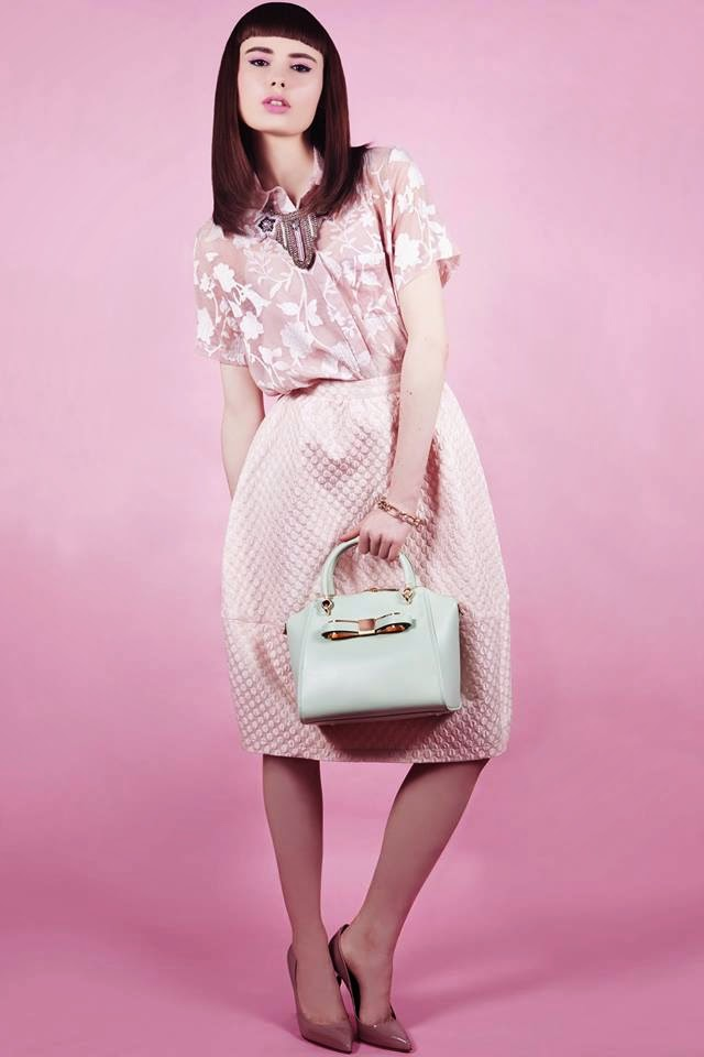 shades of pink for the pastel fashion shoot for Trend Magazine