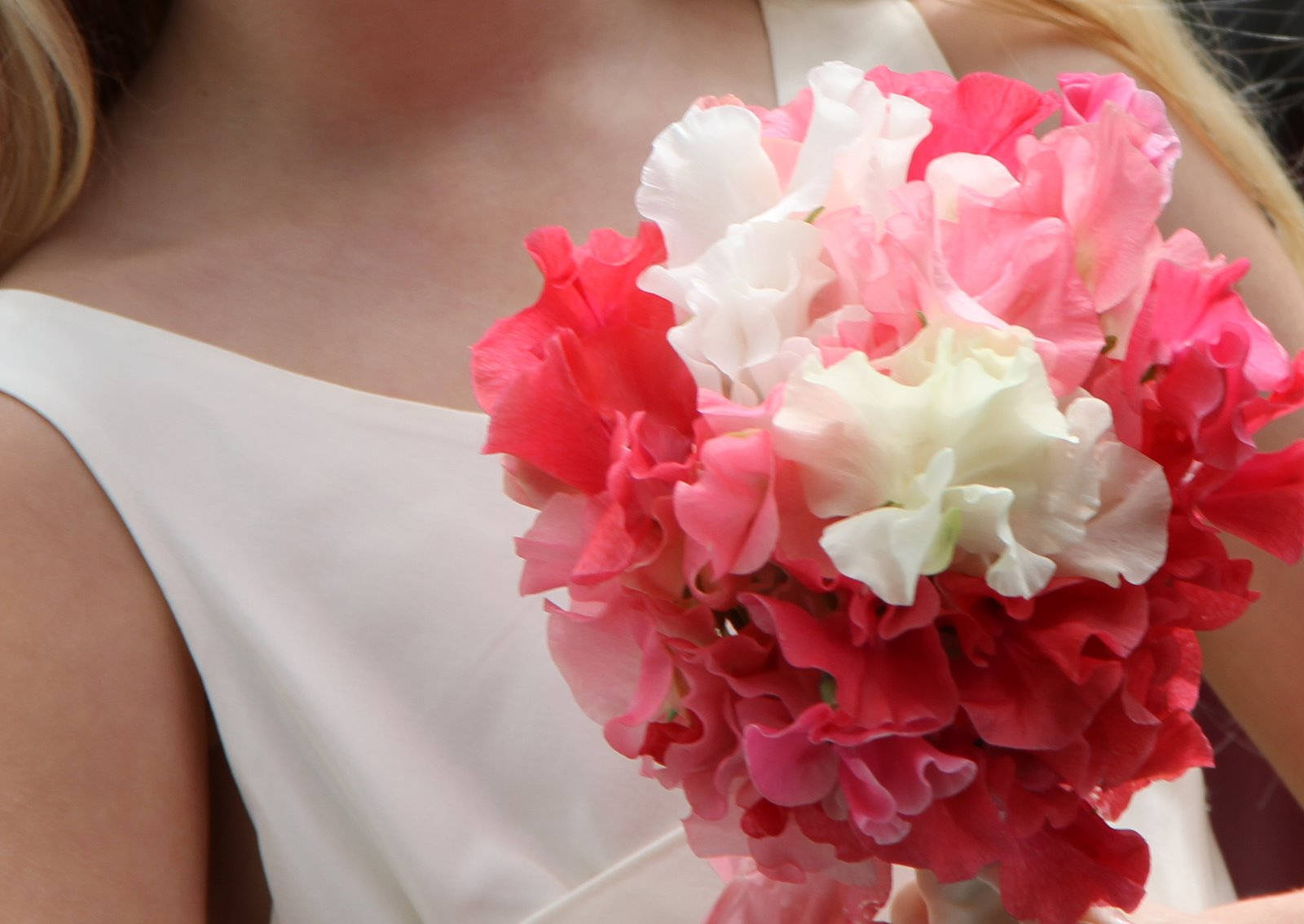 Flower Design Beautiful Bridesmaid\'s Bouquets: Sweet Pea Bridesmaid ...