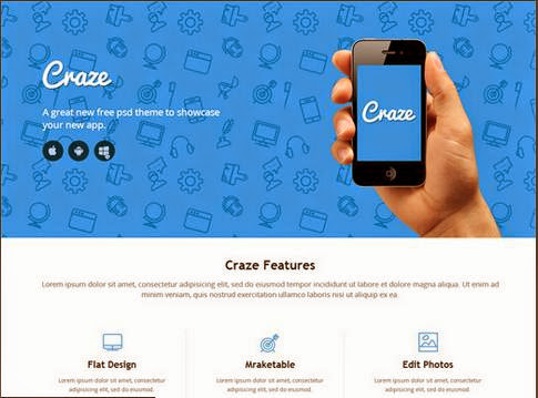 Craze Single Page Responsive HTML5