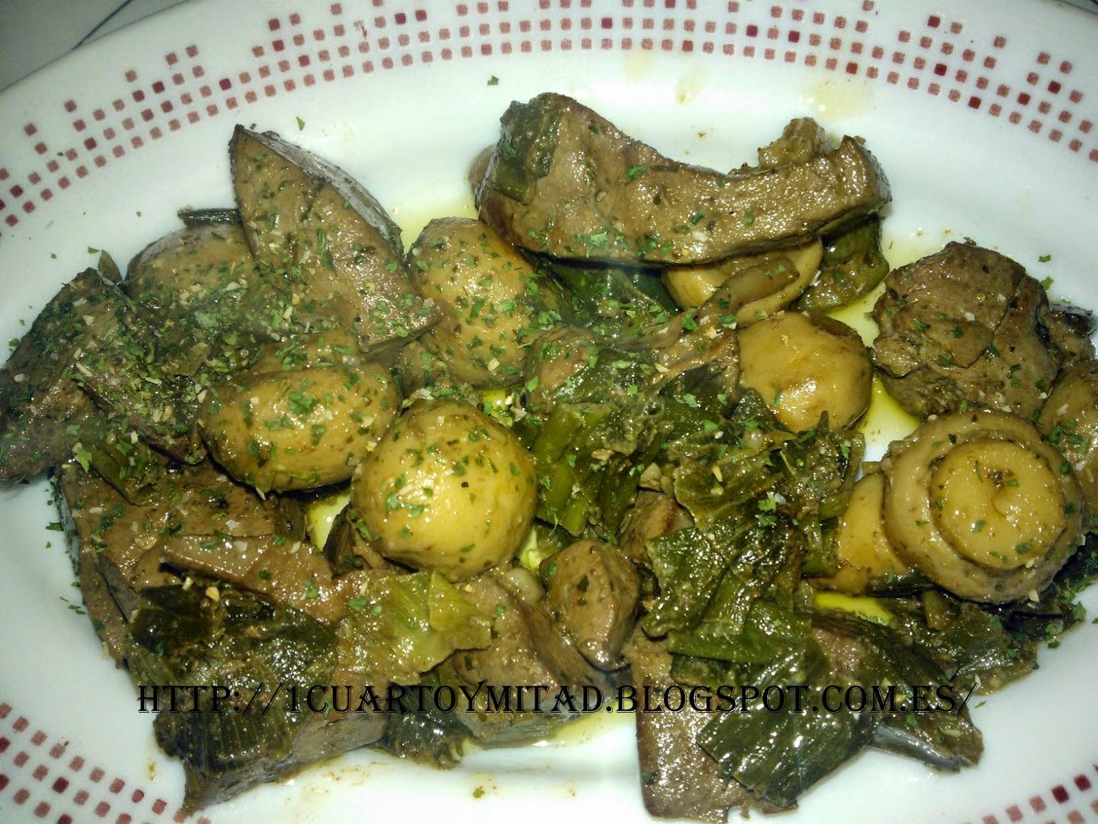 receta-higado de cerdo encebollado