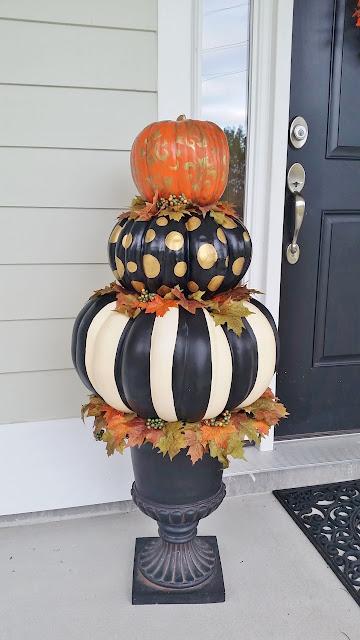Michael's pumpkin topiary