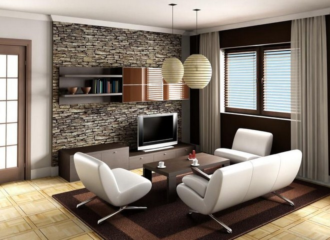 Small living room design ideas on a budget for tiny house for Small apartment living room interior design