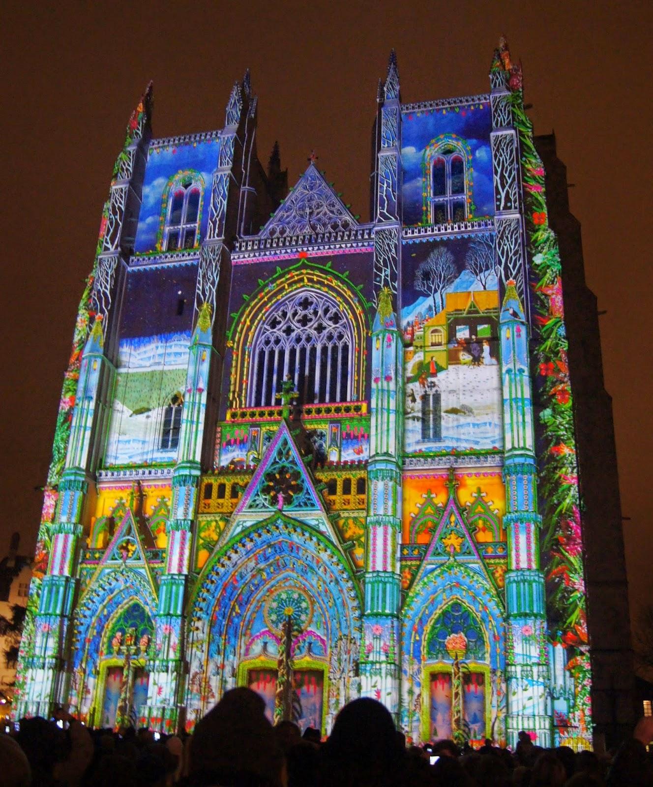 cathédrale nantes lumière