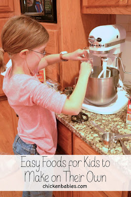 Ideas for meals that kids can make on their own when they're first learning to cook