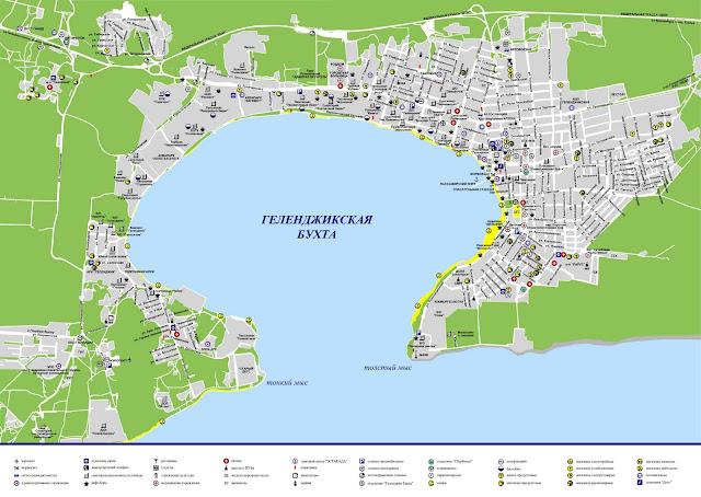 Карта улиц Геленджика