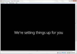 We are settings things up for you (Windows 8)
