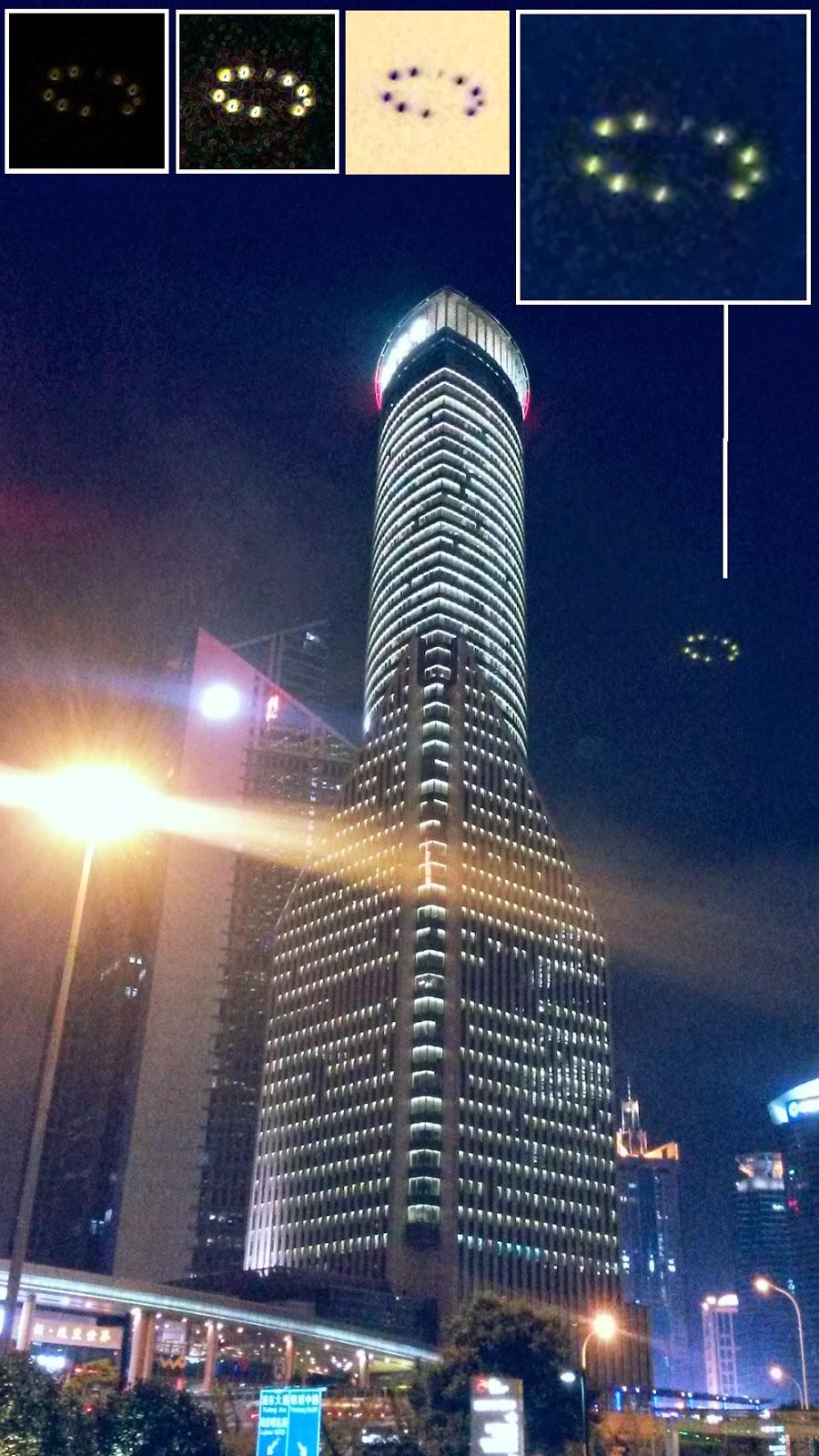 fotografiado OVNI en Shanghái