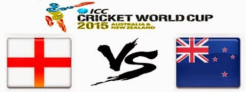 England vs New Zealand 9th Match Pool A (WC2015)